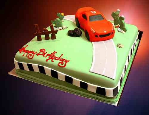 Birthday Cake Designs Of Car Dmost for